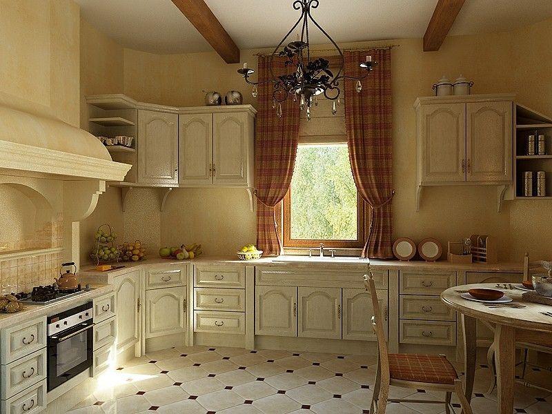 Угловая кухня классическая