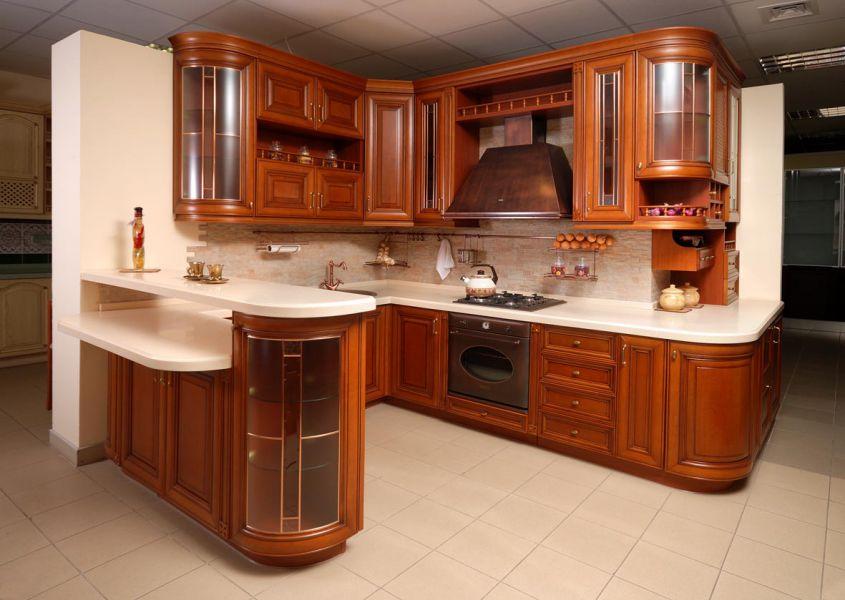 Угловая кухня классика