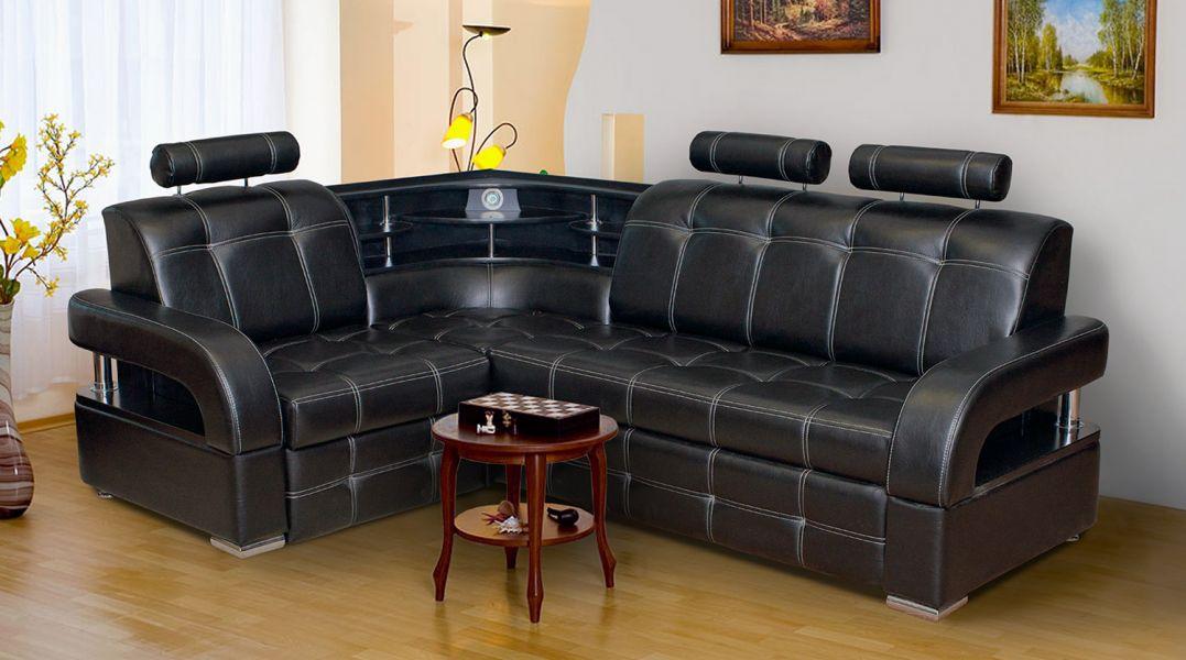 Угловой диван Бостон 5 с подголовниками