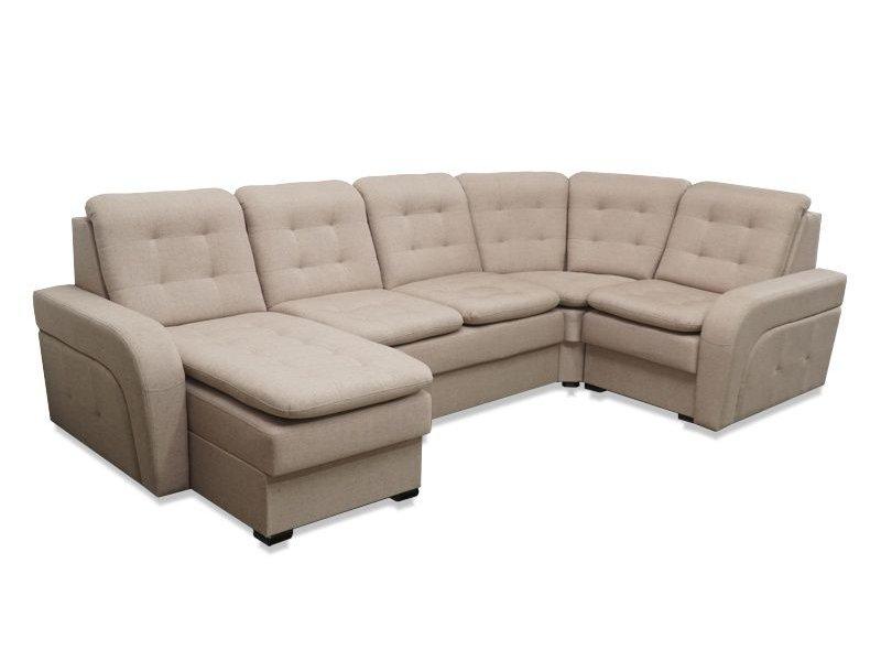 Угловой диван Сенатор с оттоманкой