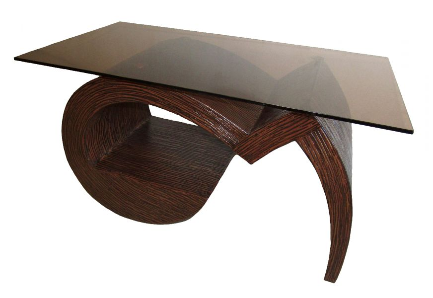 Журнальный стол Ника 4 с основанием из дерева