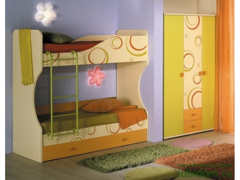 Мебель детская кровать двухъярусная